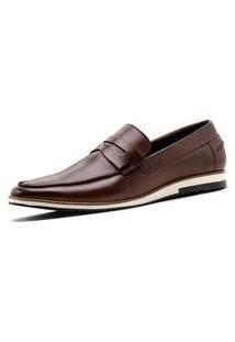 Sapato Loafer Balder Couro Mouro