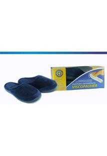 Pantufa Viscopauher Ac022 Azul Ortho Pauher 37-38