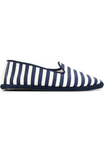 Vibi Venezia Striped Slip-On Espadrilles - Azul