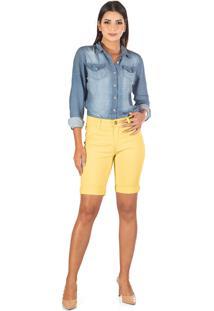 Bermuda Sisal Jeans Ciclista Amarela