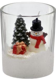 Vela De Copo Papai Noel- Branca & Vermelha- 9Xã˜7,5Cmmabruk