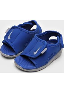 Sandália Nike Infantil Logo Azul