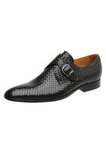 Sapato Social Couro Preto Trancado 60462