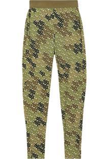 Burberry Legging De Jersey Com Monograma - Verde