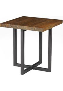 Mesa Lateral Atlanta Mad Rustic Brown 50 Cm (Alt) - 38365 - Sun House