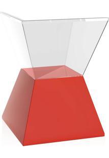 Banco | Banqueta Nitro Cristal E Vermelho