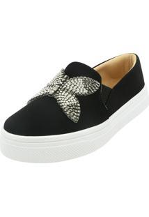 Tenis Hope Shoes Slipper Borboleta Preto - Preto - Feminino - Dafiti