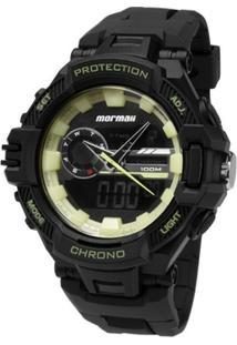 Relógio Mormaii Analógico/Digital Protection Moad11348P Preto - Unissex-Preto