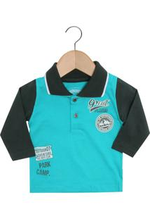 4b2446d89f27f Camisa Polo Alakazoo Manga Longa infantil