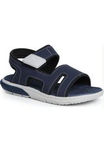 Sandália Infantil Velcro Marinho