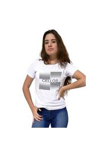 Camiseta Feminina Cellos Degradê Premium Branco