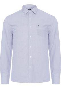 Camisa Masculina Quadriculado - Azul