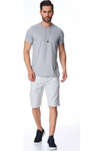Bermuda Jeans Zait Tradicional Samuel Cinza - Cinza - Masculino - Dafiti