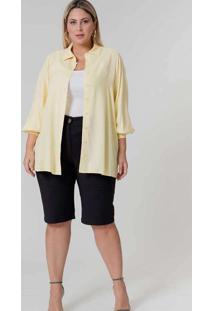 Camisa Oversized Almaria Plus Size Pianeta Punho F