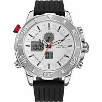1ea3a0a3856 Relógio Weide Anadigi Wh-6108 - Masculino-Branco