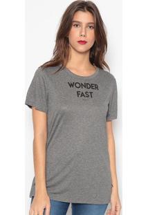 "Camiseta ""Wonder Fast""- Cinza- Colccicolcci"