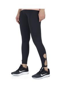 Calça Legging Nike Yoga Tigh Ho 7/8 - Feminina - Preto/Branco
