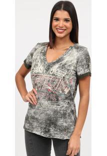 "Camiseta Estonada ""Tritonâ®""- Cinza & Vermelha- Tritotriton"