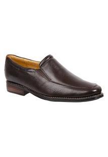 Sapato Social Masculino Side Gore Sandro Moscoloni Panor Marrom