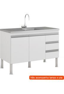 Balcão De Cozinha Ibiza 2 Pt 3 Gv Branco