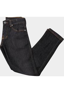 Calça Jeans Infantil O'Neill Lisa Masculina - Masculino-Preto