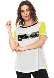 Camiseta Forum Progresso Branca/Amarela