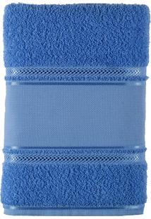 Toalha De Rosto 100% Algodão 45X80 Criativa-Bordar - Teka - Azul Claro
