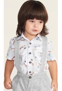 Camisa Infantil Bebê Menino Estampada