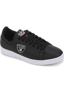 Tênis Nfl Oakland Raiders Shield Masculino - Masculino-Preto