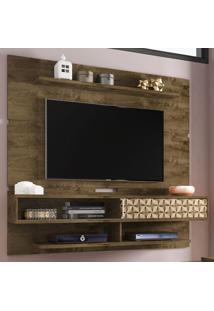 Painel Para Tv Até 60 Polegadas 1 Porta Búzios Flex Rústico/3D - Bechara Móveis