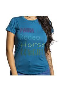 T-Shirt Miss Country Farm Azul