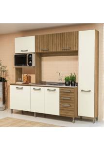 Cozinha Compacta Frow 7 Pt 3 Gv Freijó E Off White 230 Cm
