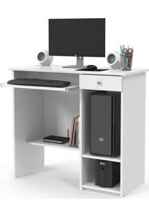 Mesa Computador Marina New Branco Patrimar Móveis