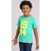 Camiseta Infantil Brasil