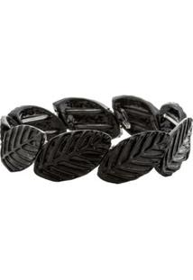Bracelete Folhas - Preto