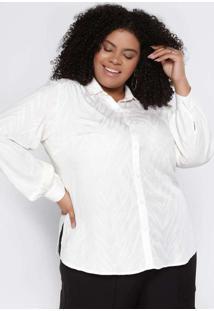 Camisa Almaria Plus Size Pianeta Viscose Jaquard A
