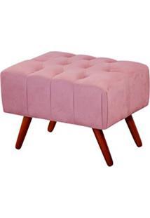 Puff Triton 60 Cm Largura Rosa - Lc Móveis