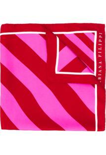 Fabiana Filippi Lenço Com Listras Diagonais - Vermelho