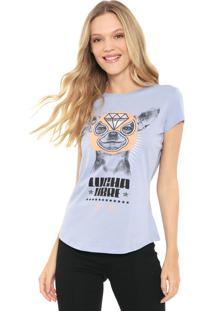 Camiseta Lez A Lez Estampada Azul