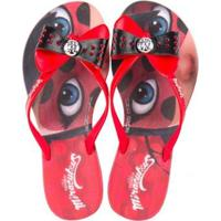 128376d57 Chinelo Infantil Grendene Kids Miraculous Ladybug Feminino - Feminino -Vermelho
