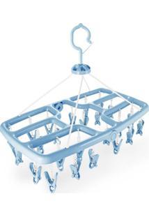 Mini Varal Jacki Design Com 24 Prendedores Ayj17257-Az Azul Unico