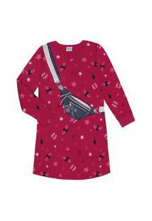 Vestido Infantil Girl Power Rovitex Kids Vermelho