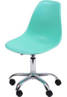 Cadeira Eames Dkr- Verde Água & Prateada- 93X47X41Cmor Design