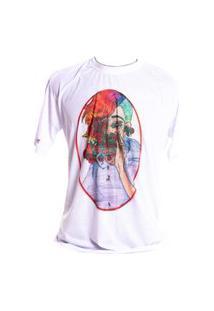 Camiseta Branca Prorider Bad Rose Personagem Autoral Nanami Nem Rose