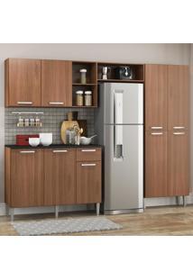 Cozinha Completa Compacta Pequim Up Multimóveis Com Balcão - Madeirado