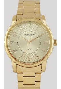 Relógio Analógico Mondaine Feminino - 99121Lpmvde1 Dourado - Único
