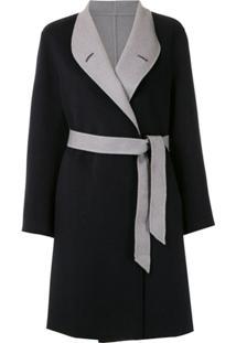 Emporio Armani Trench Coat Com Amarração - Preto