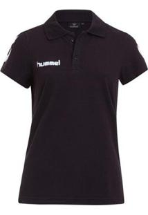 Camiseta Polo Hummel Core Cotton Feminina - Feminino