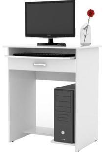 Escrivaninha / Mesa Para Computador Prática C/ Gaveta - Branco - Ej Móveis