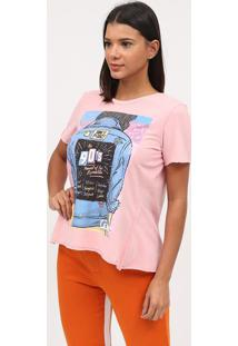 "Camiseta ""The 90'S""- Rosa & Azul- Coca-Colacoca-Cola"